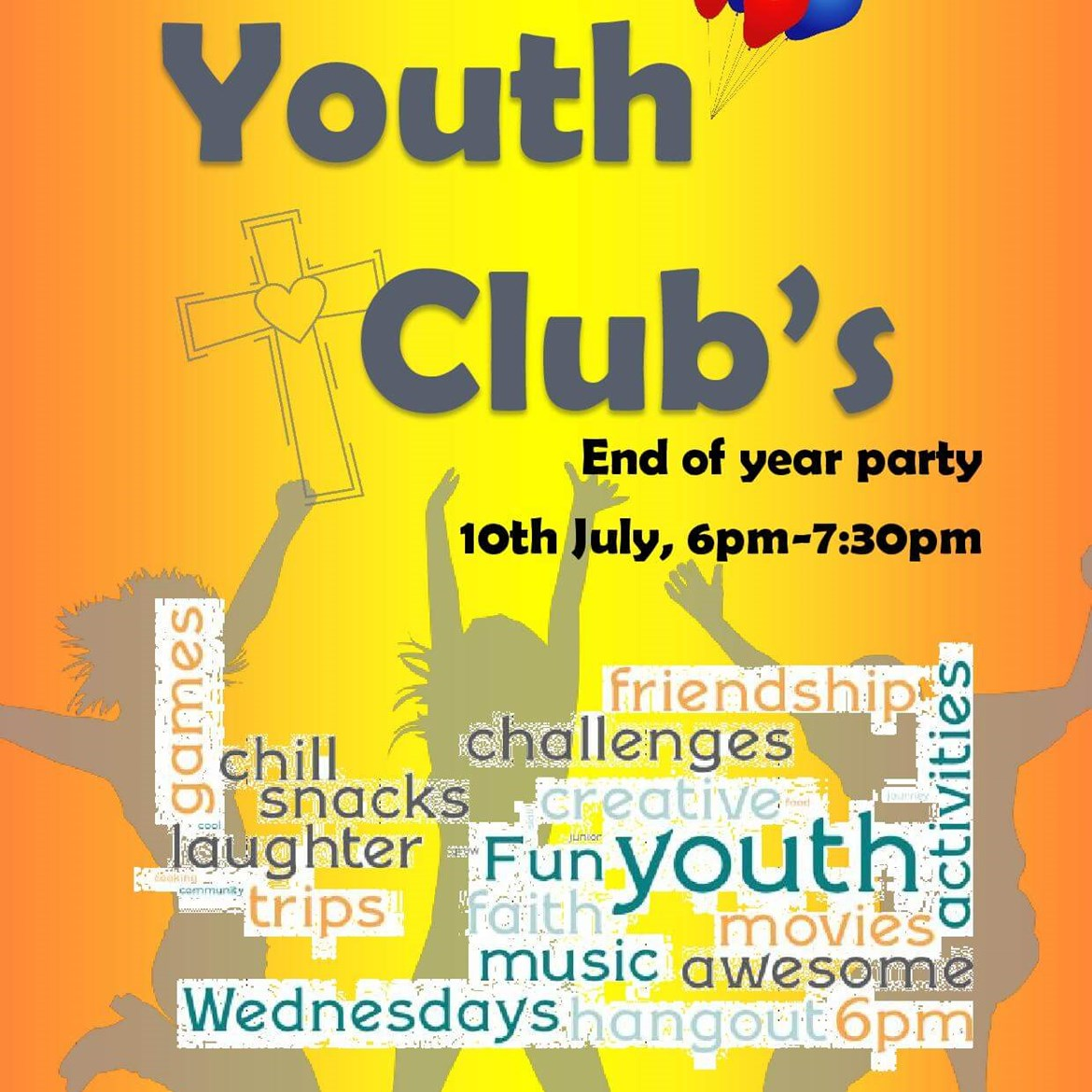 Youth Club Poster End Of Year Party 2019 Page 001
